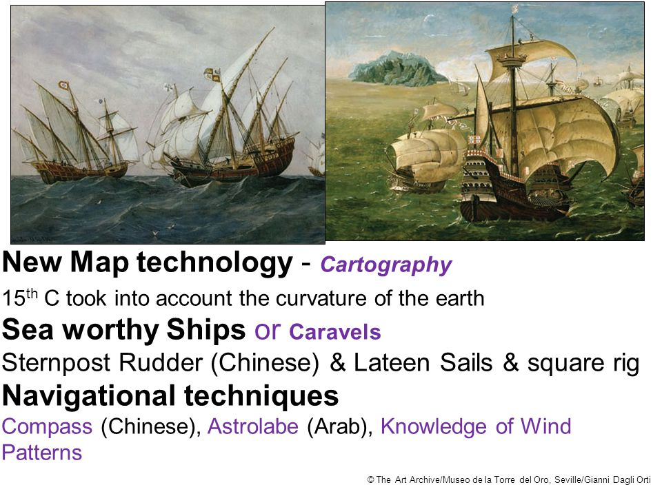 New Map technology - Cartography Sea worthy Ships or Caravels