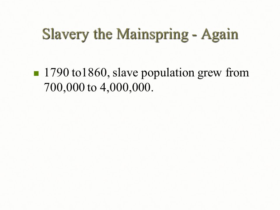 Slavery the Mainspring - Again