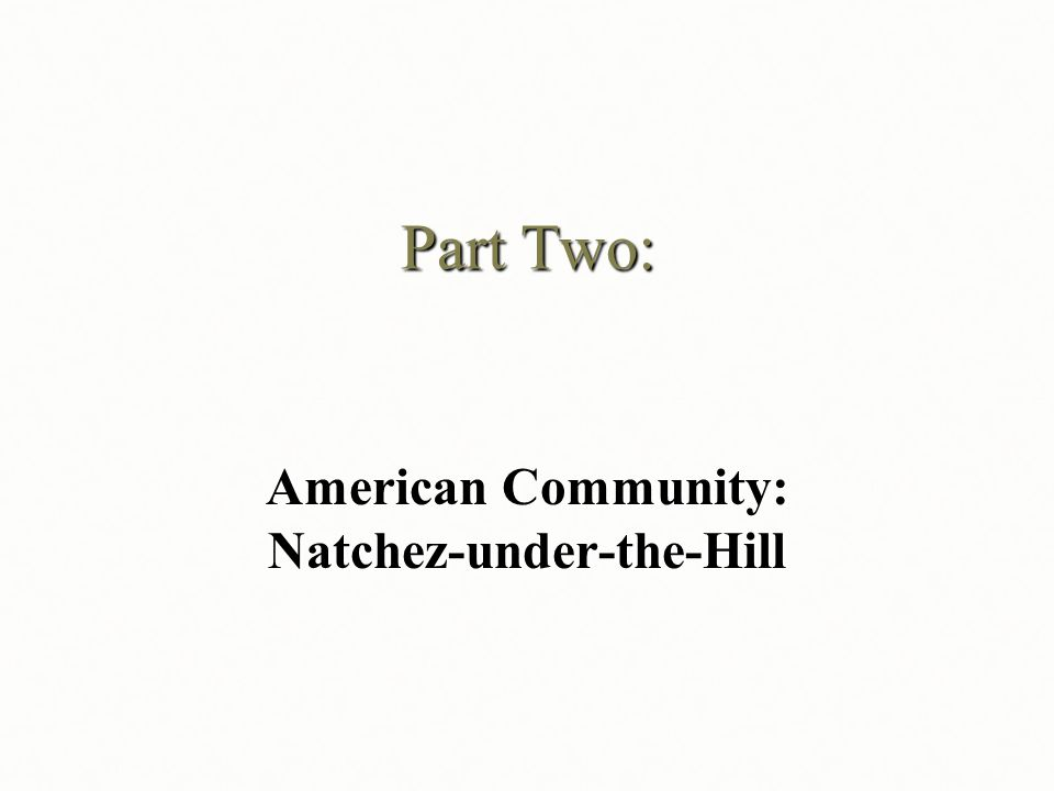 American Community: Natchez-under-the-Hill