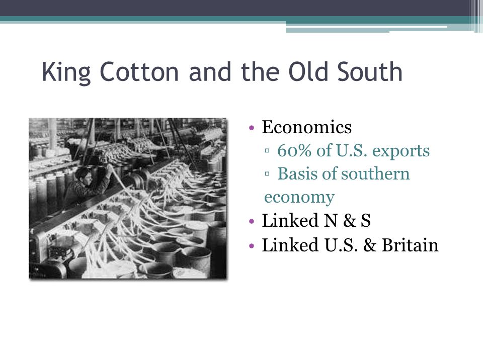 King Cotton and the Old South