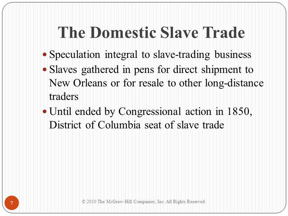 The Domestic Slave Trade