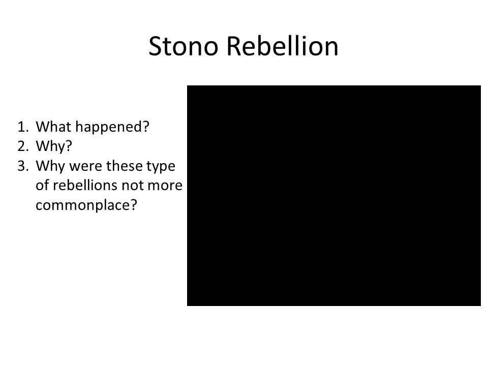 Stono Rebellion What happened Why