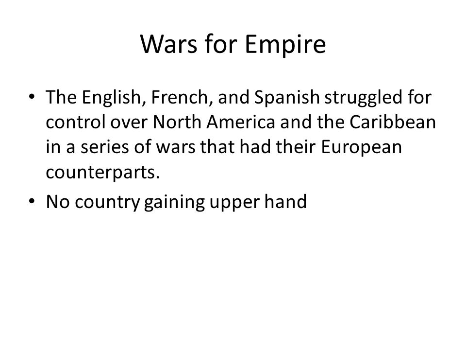 Wars for Empire
