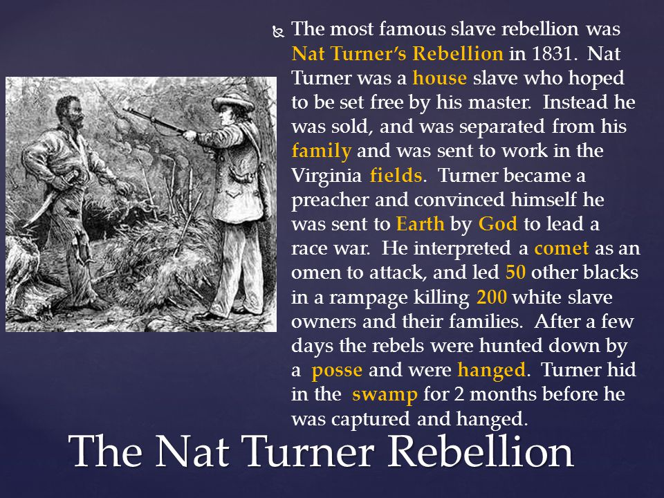 The Nat Turner Rebellion