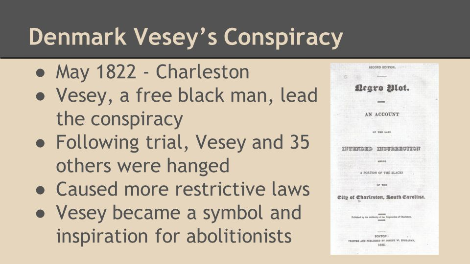 Nat Turner's Revolt One of the Largest Revolts Spiritual Leader