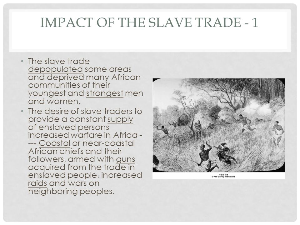 Impact of the Slave Trade - 1