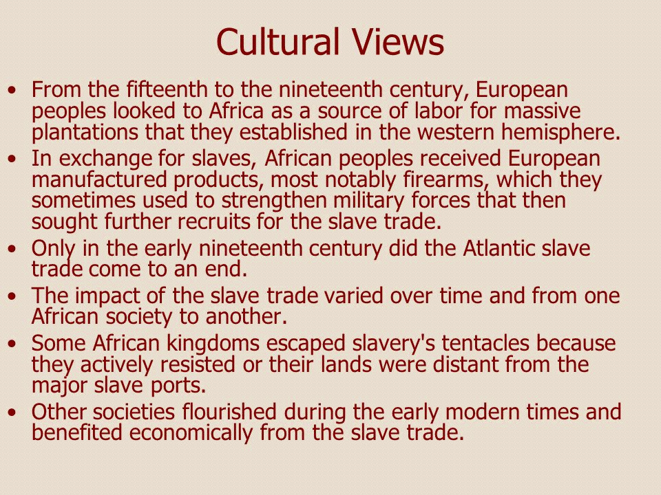 Cultural Views