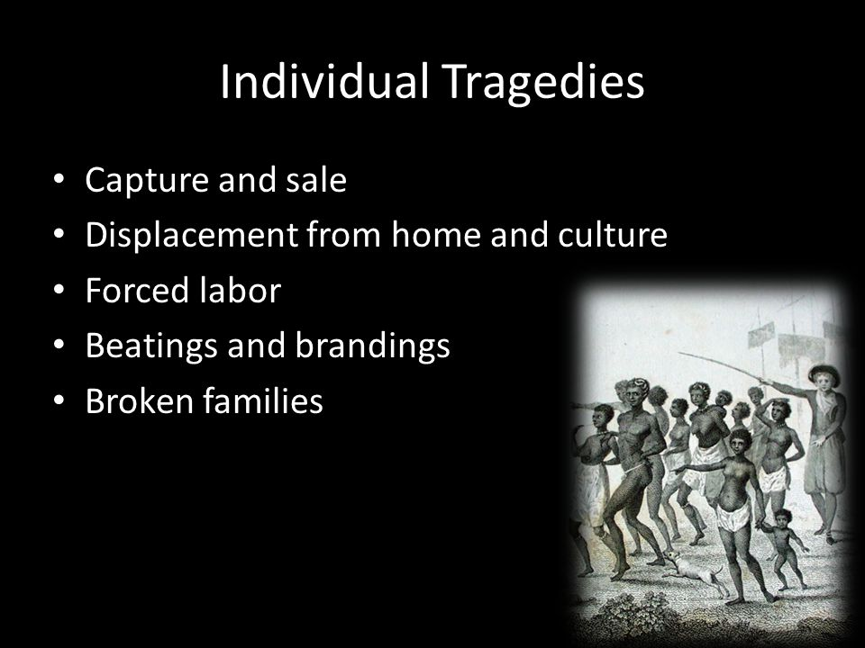 Individual Tragedies Capture and sale