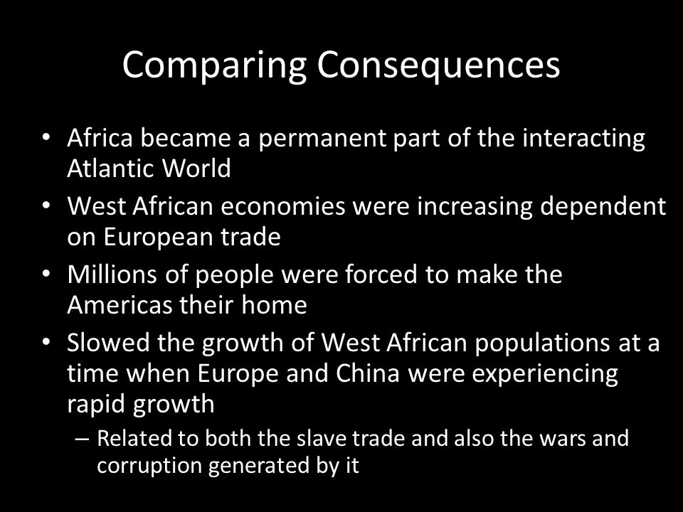 Comparing Consequences