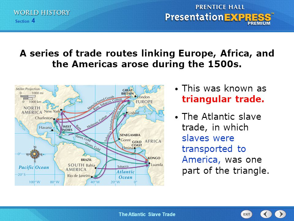 triangular trade route essay