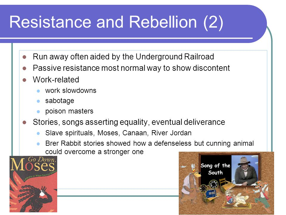 Resistance and Rebellion (2)