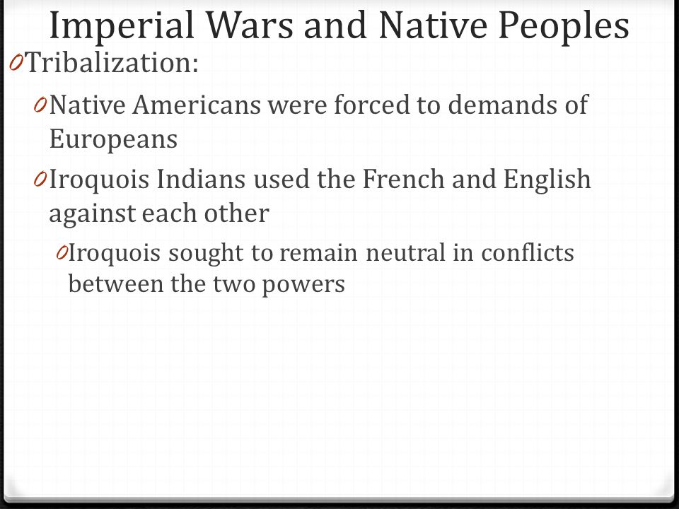 Imperial Wars and Native Peoples