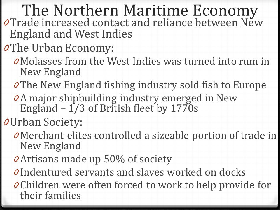 The Northern Maritime Economy