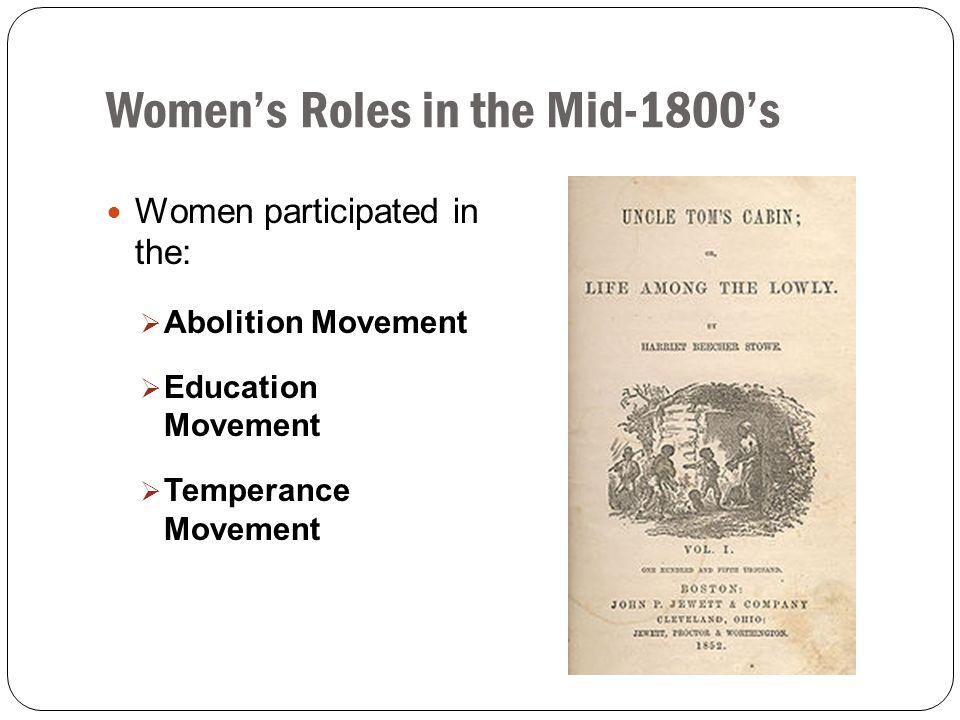 Women's Roles in the Mid-1800's