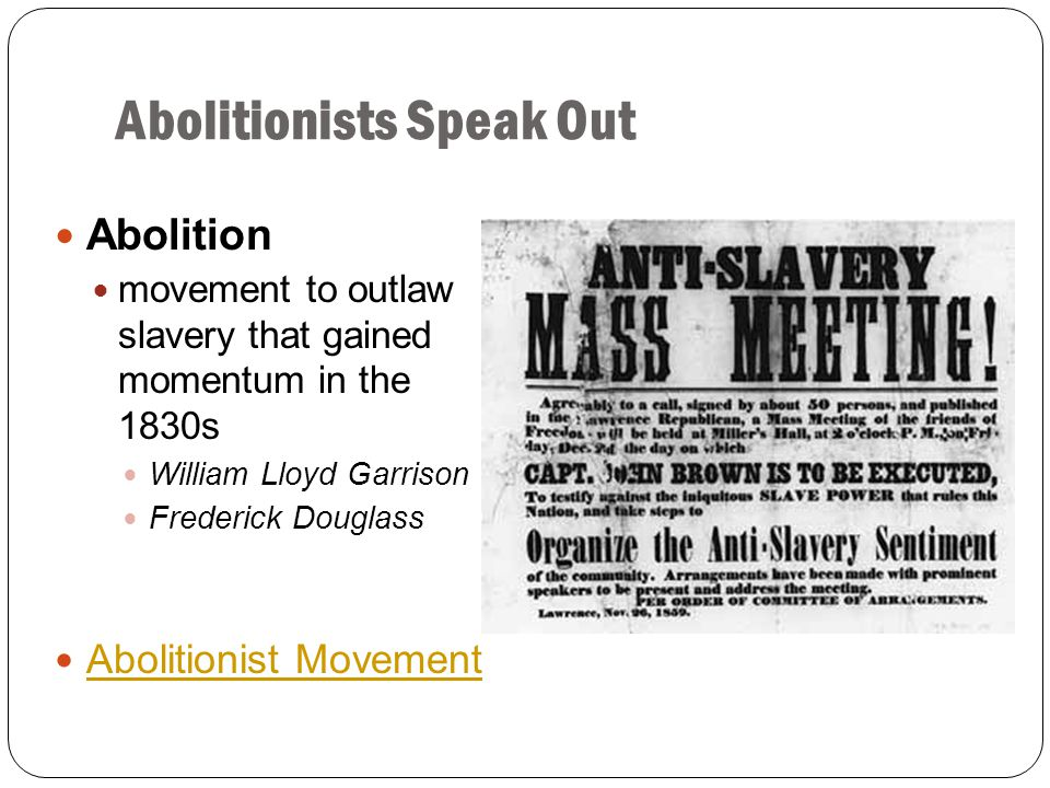 Abolitionists Speak Out