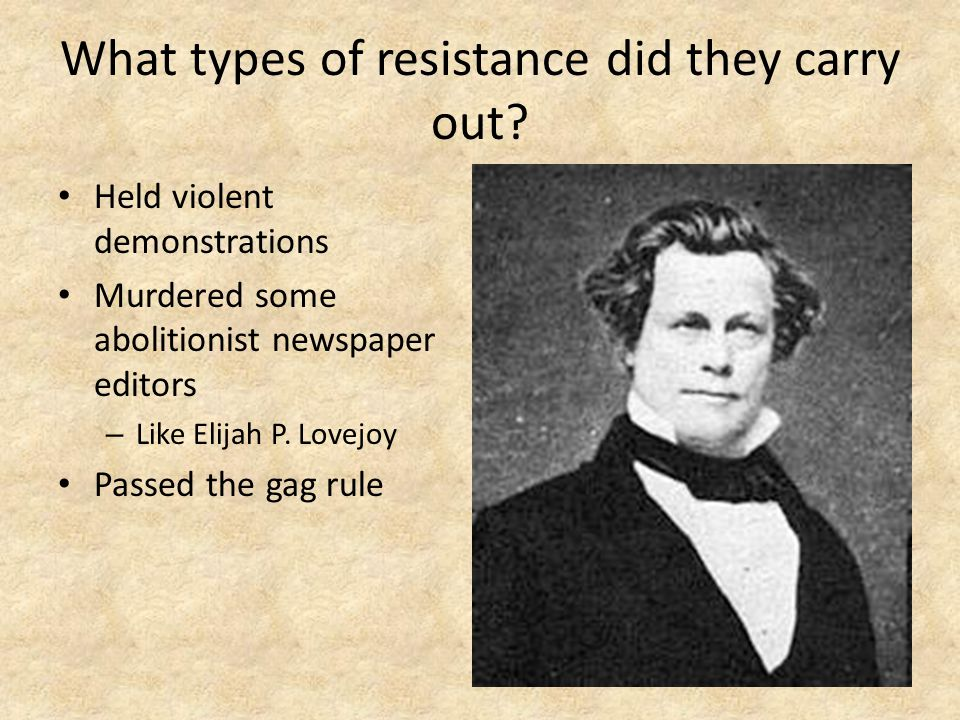 What types of resistance did they carry out