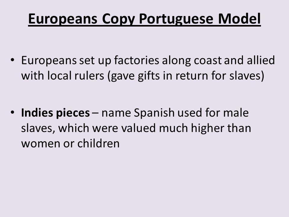 Europeans Copy Portuguese Model