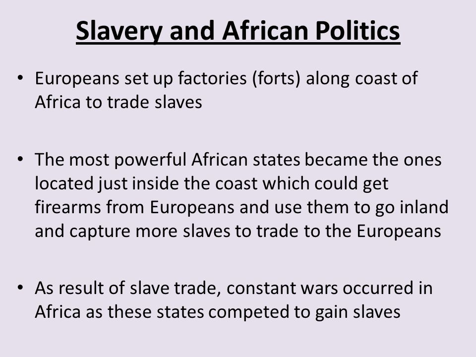 Slavery and African Politics