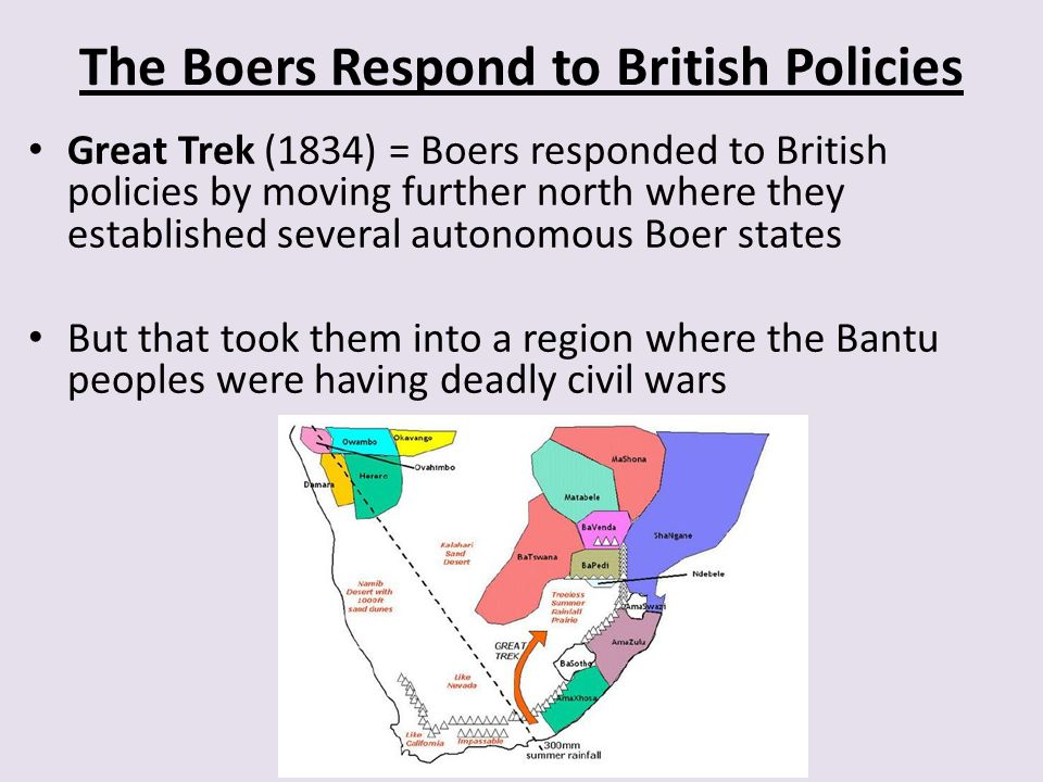 The Boers Respond to British Policies