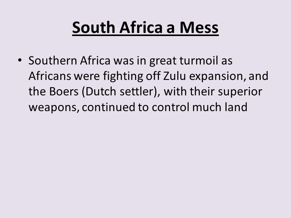 South Africa a Mess