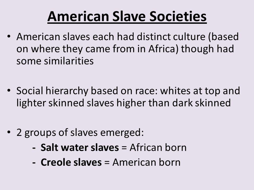 American Slave Societies