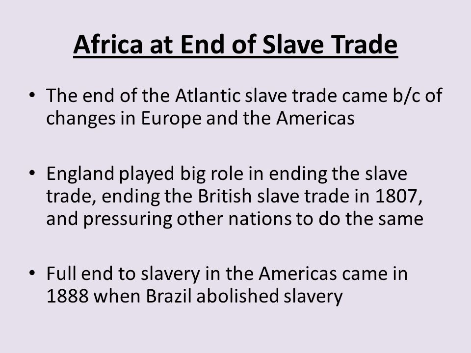 Africa at End of Slave Trade