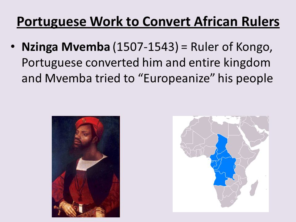 Portuguese Work to Convert African Rulers
