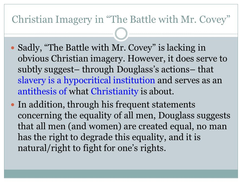 Christian Imagery in The Battle with Mr. Covey