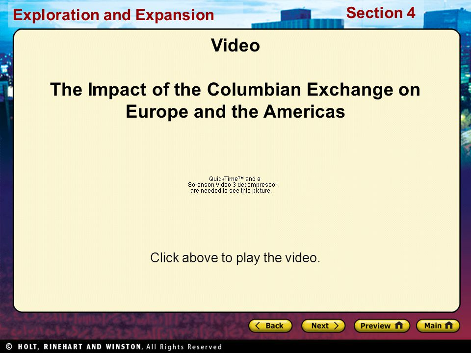Video The Impact of the Columbian Exchange on Europe and the Americas