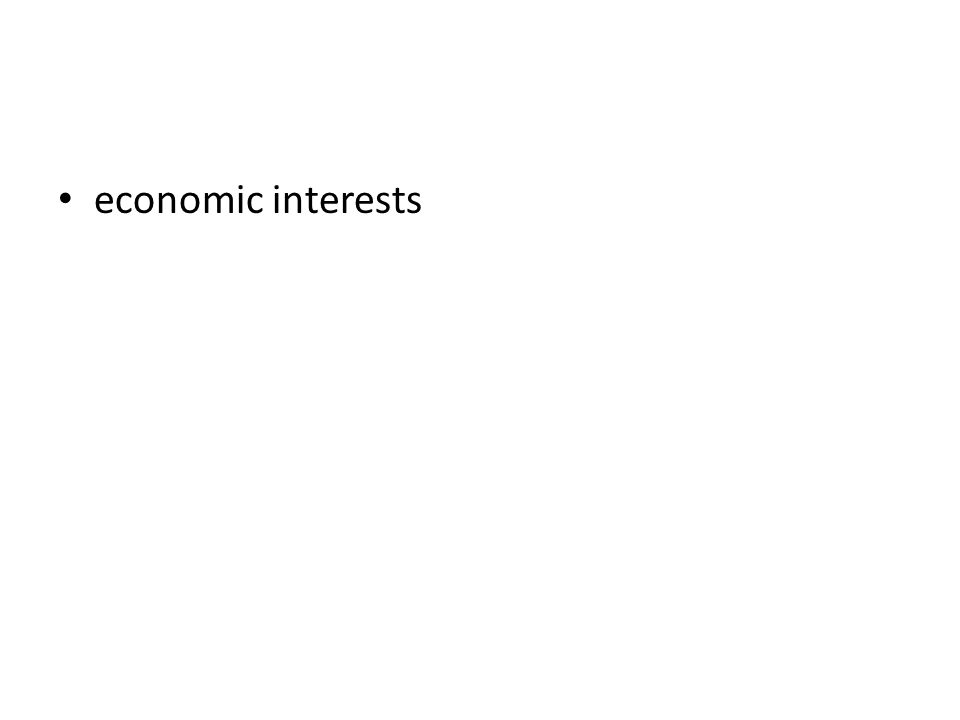 economic interests