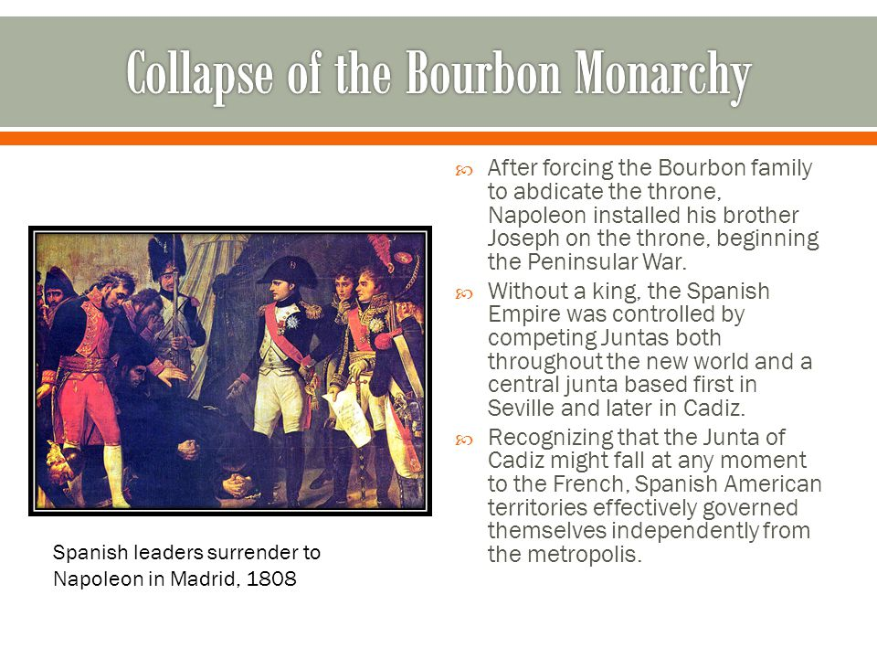 Collapse of the Bourbon Monarchy