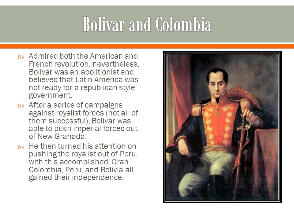 Bolivar and Colombia