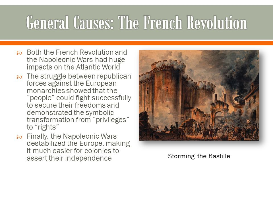 General Causes: The French Revolution