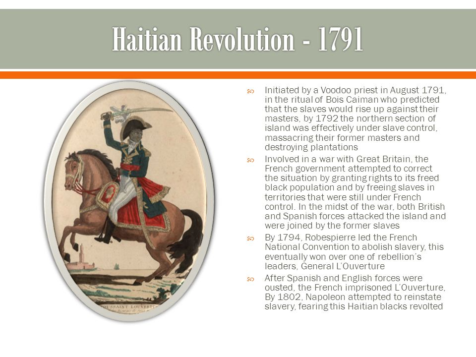 Haitian Revolution - 1791