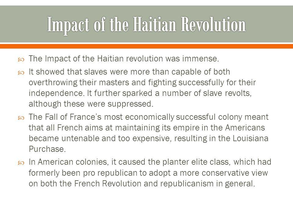 Impact of the Haitian Revolution