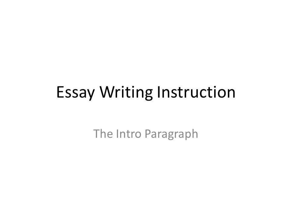 "essay writing instruction Writing essays: the writing process revised 4/20/10 page 1 of 4 essay writing step by step ""write an essay but i don't know how""."