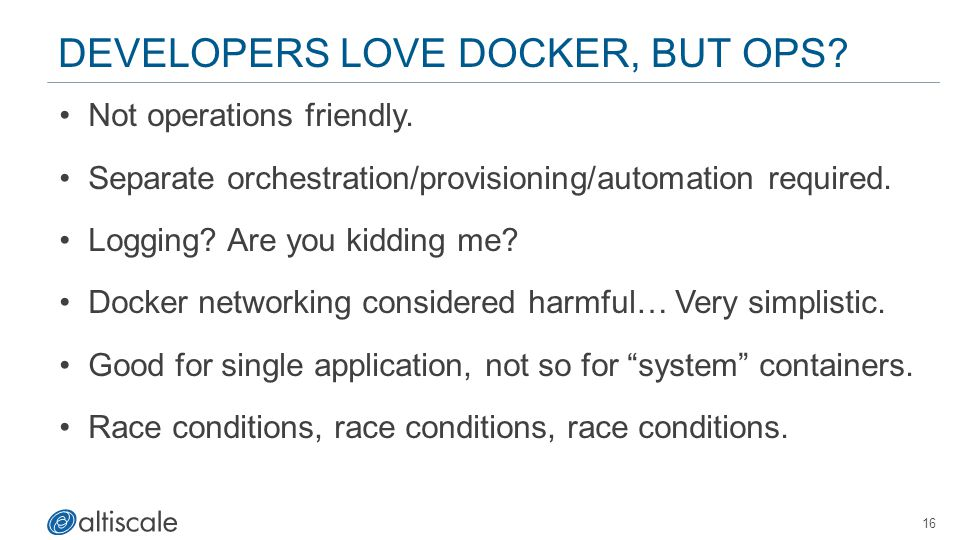 Developers Love Docker, but OPS