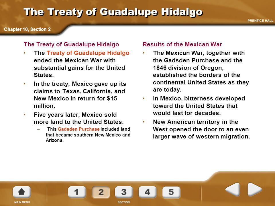The Treaty of Guadalupe Hidalgo