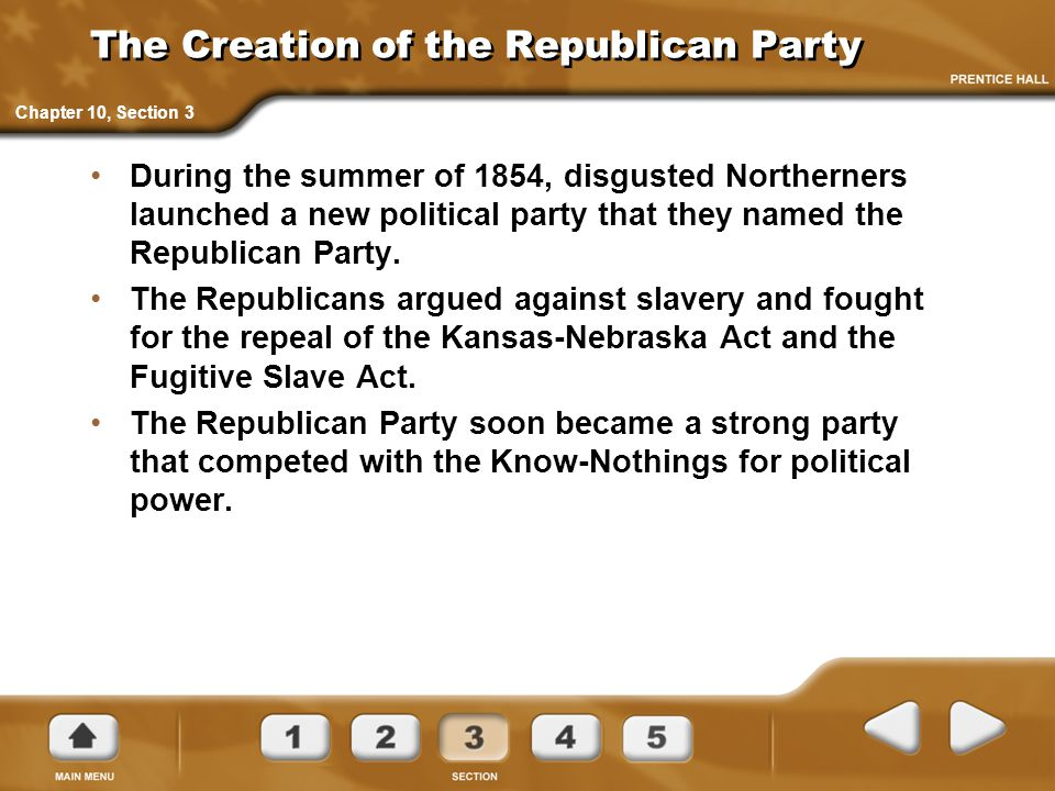 The Creation of the Republican Party