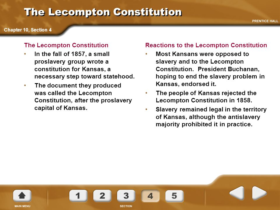 The Lecompton Constitution