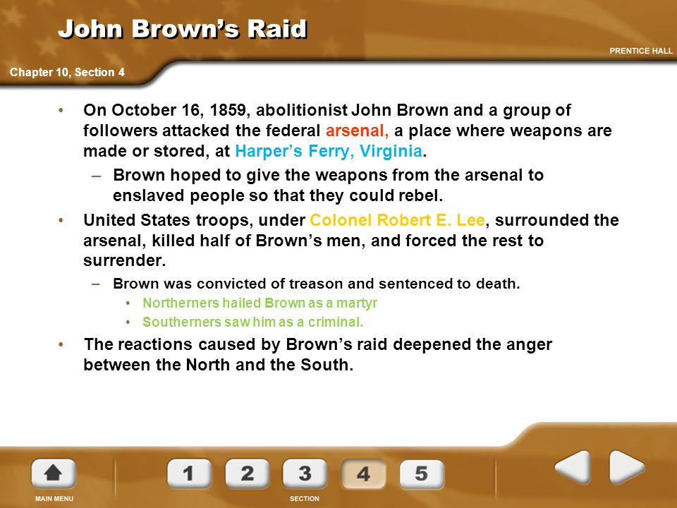 John Brown's Raid Chapter 10, Section 4.