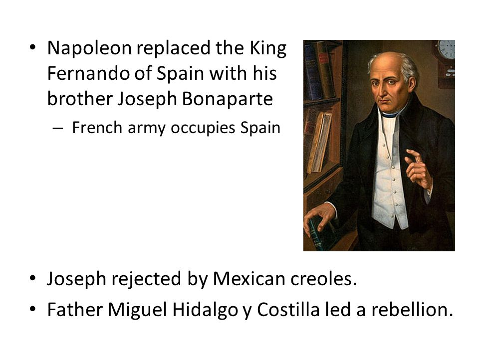 Joseph rejected by Mexican creoles.