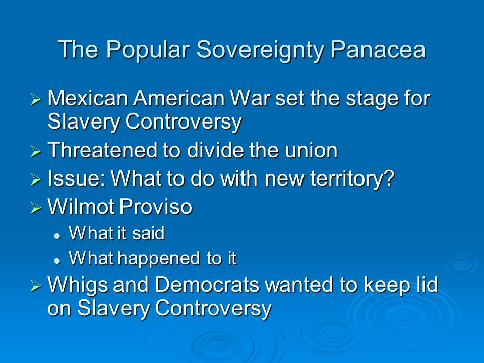 The Popular Sovereignty Panacea