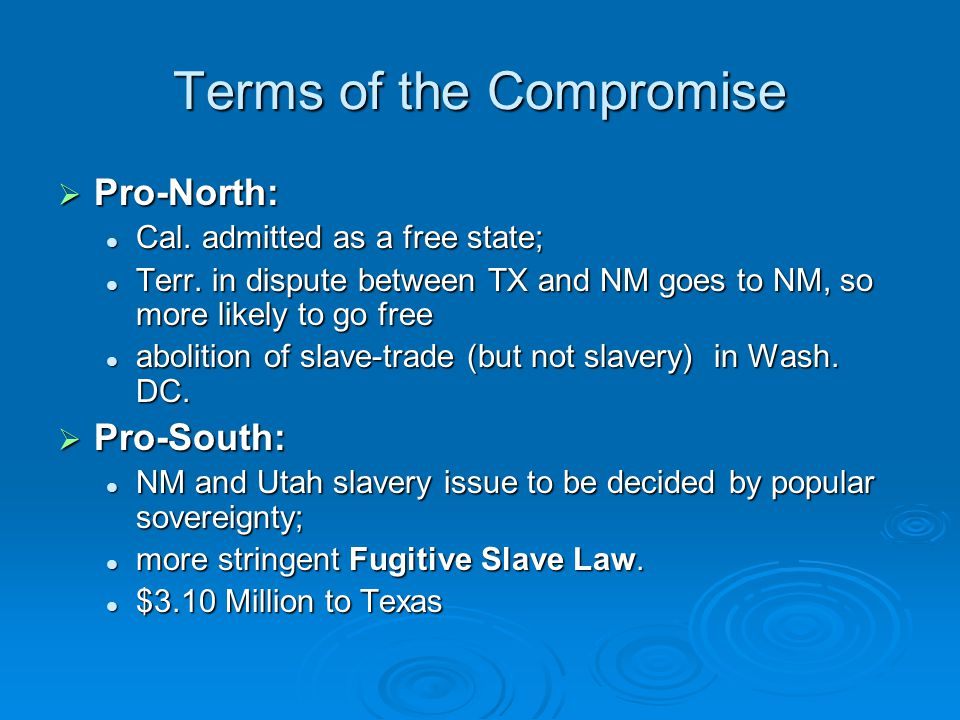 Terms of the Compromise