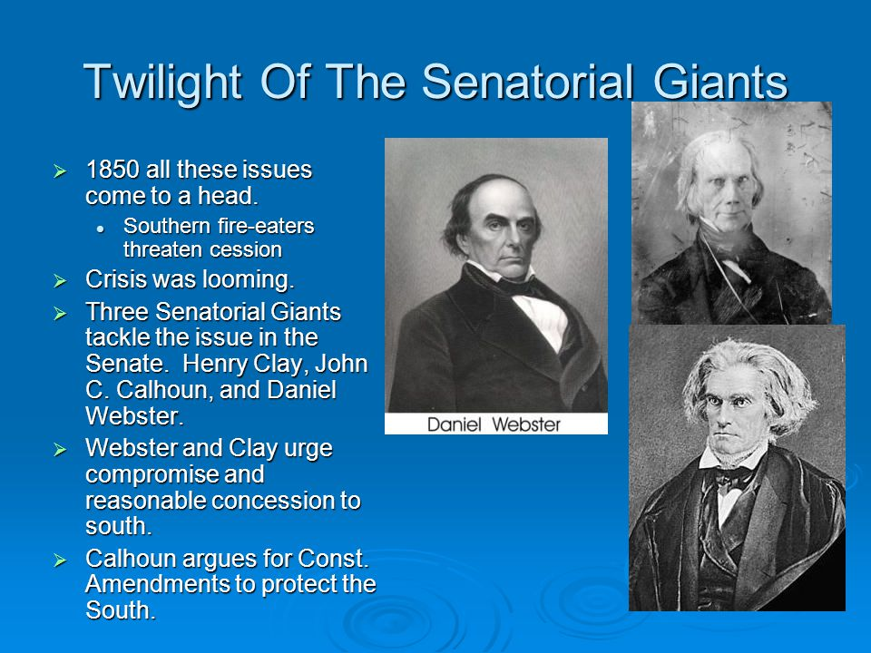 Twilight Of The Senatorial Giants