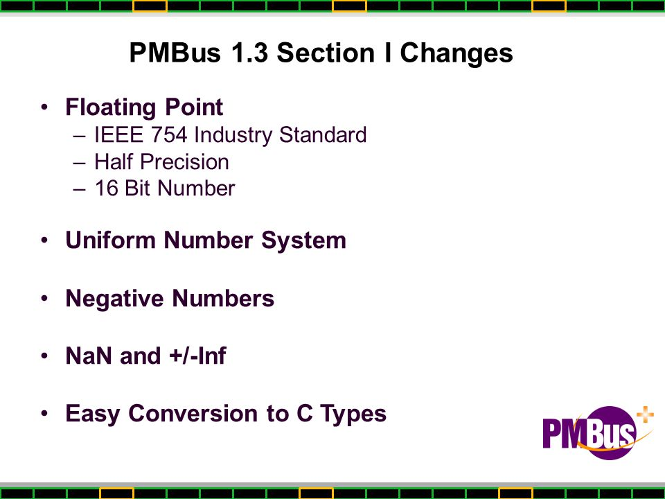 PMBus 1.3 Section I Changes
