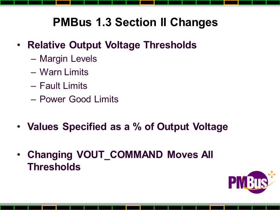PMBus 1.3 Section II Changes