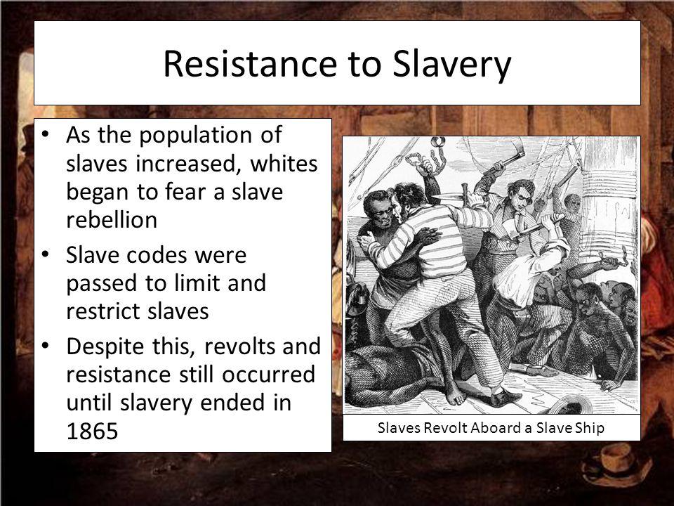 Slaves Revolt Aboard a Slave Ship