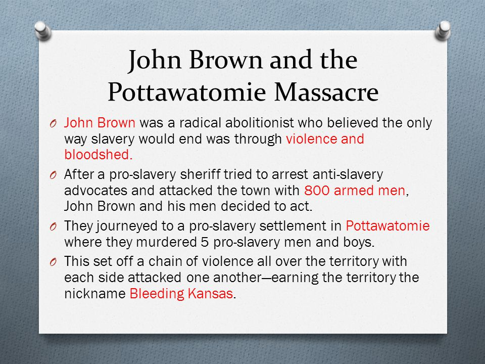 John Brown and the Pottawatomie Massacre