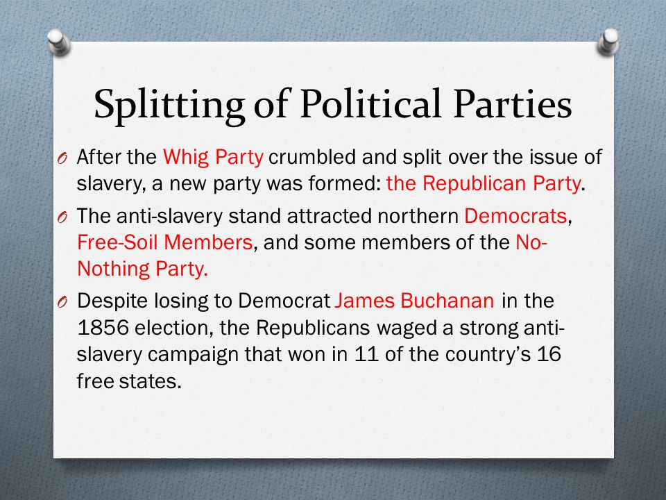 Splitting of Political Parties